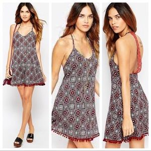 ASOS - Pattern Dress or Coverup - Maroon - Size 6